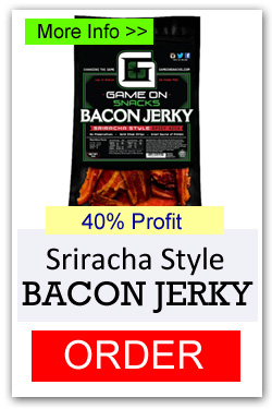 Game On Bacon Jerky - Sriracha Style