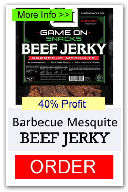 Game On Beef Jerky - Barbecue Mesquite