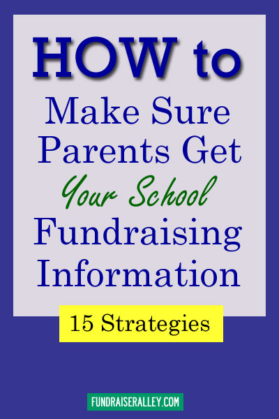 How to Make Sure Parents Get Your School Fundraising Information
