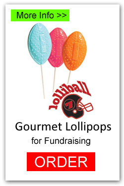 Football Lollipops for Fundraising - More Info/Order Online