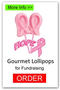 Hope Awareness Football Lollipops for Fundraising