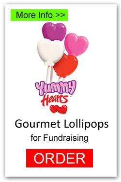 Valentine Hearts Lollipops for Fundraising