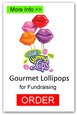 Valentine Lips Sour Lollipops for Fundraising