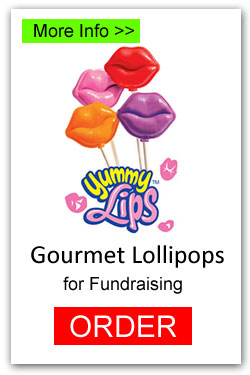 Valentine Lips Lollipops for Fundraising
