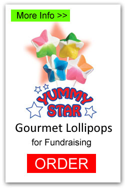 Yummy Stars Lollipops - More Info/Order Online