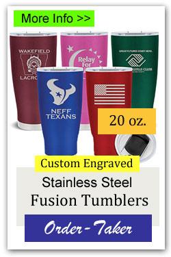 20oz Custom Tumblers Order-Taker Fundraiser