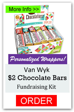 Van Wyk Chocolatiers Personalized Fundraising Kit