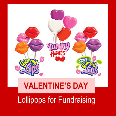 Valentines Day Lollipops for Fundraising
