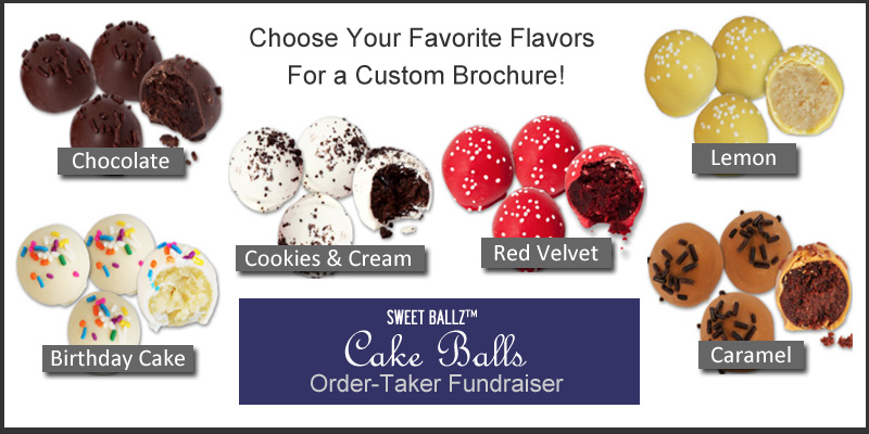 Choose Your Favorite Cake Ball Flavors for Custom Brochure