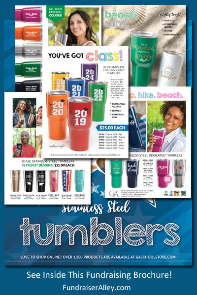 Stainless Steel Tumblers Fundraising Brochure
