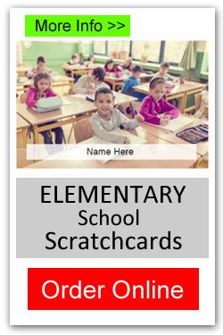 Elementary School Scratchcards - Order Online