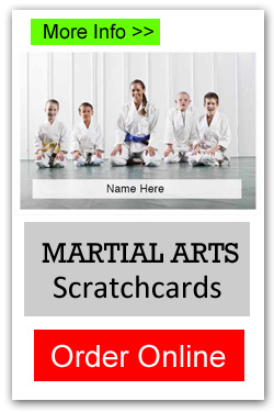 Martial Arts Scratchcards - Order Online