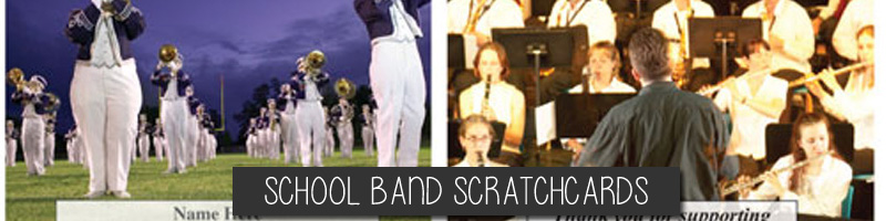 School Band Scratchcards for Fundraising