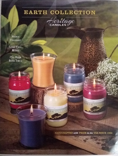 Earth Collection Candles Fundraising Brochure - Pg 1/Cover