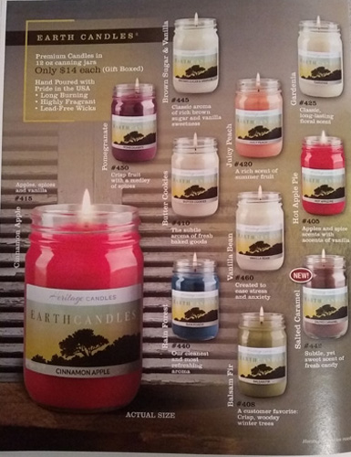 Earth Collection Candles Fundraising Brochure - Page 2