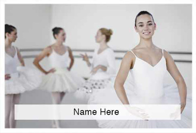 Ballet Dance and Gymnastic Theme Scratchcard