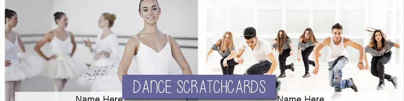 Dance Theme Scratchcards