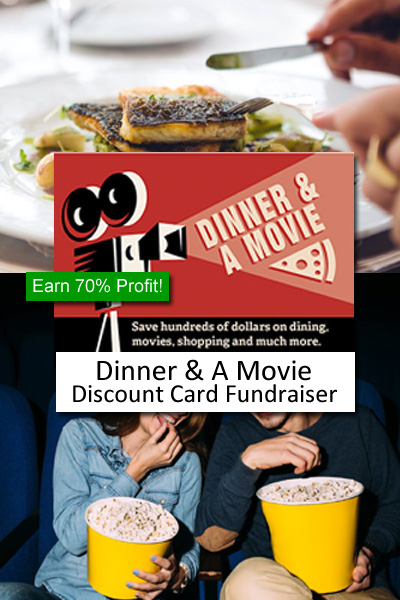 Dinner and Movie Discount Card Fundraiser