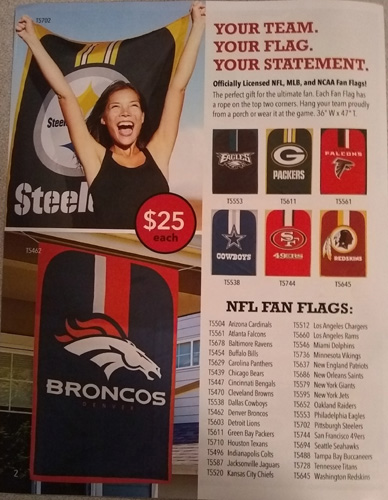 Fan Flags Fundraiser Brochure - Pg 2