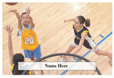 Scratchcard Theme - Girls Basketball