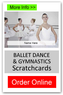 Ballet Dance and Gymnastics Scratchcards - Order Online
