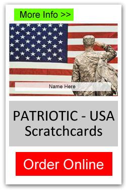 Patriotic Theme Scratchcard Fundraiser - Order Online