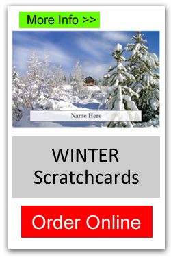 Winter Theme Scratchcard Fundraiser - Order Online