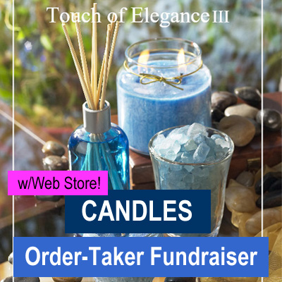 Candle Fundraiser Brochure with Web Store