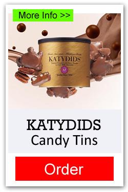 Katydid Candy Tins