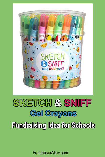 Sketch and Sniff Gel Crayons - Fundraising Idea for Schools