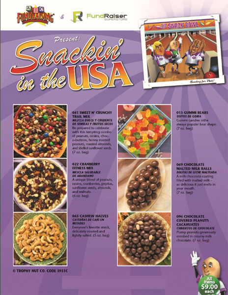 Snacks Fundraiser Order-Taker Brochure