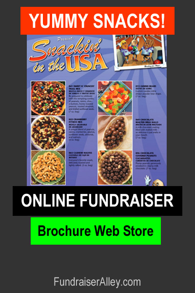 Yummy Snacks Online Fundraiser with Brochure Web Store