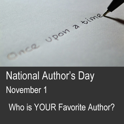 National Author's Day is November 1