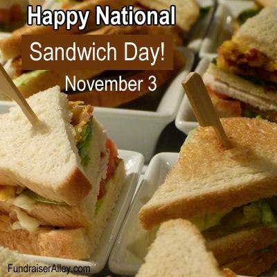November 3 - National Sandwich Day