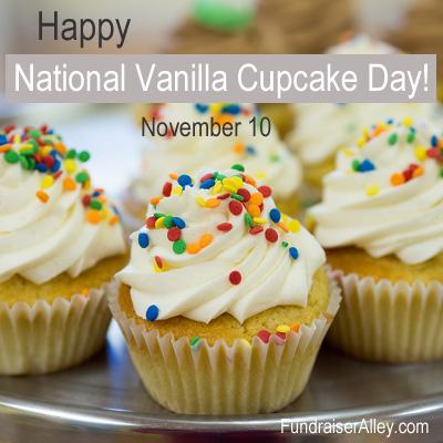 November 10 - National Vanilla Cupcake Day