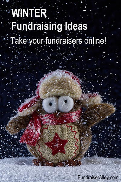 Winter Fundraising Ideas - Take your fundraisers online!