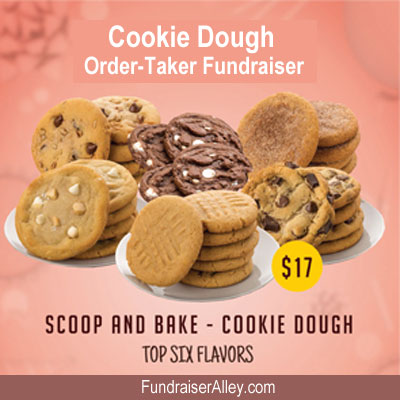Scoop and Bake Cookie Dough, Top Six Flavors, Order-Taker Fundraiser