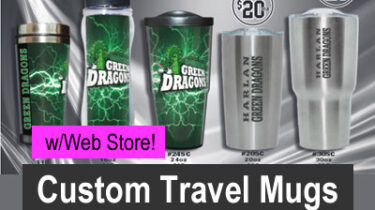 Custom Travel Mugs Order-Taker Fundraiser with Web Store