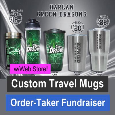 Custom Travel Mugs Order-Taker Fundraiser with Web Store
