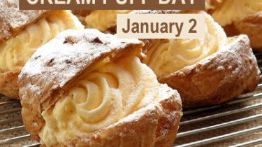National Cream Puff Day, January 2