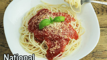 National Spaghetti Day, Jan 4, Perfect day for Spaghetti Supper Fundraiser