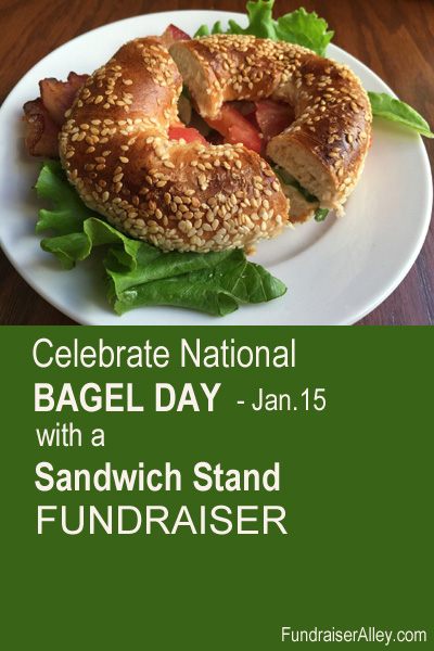 Celebrate National Bagel Day with a Sandwich Stand Fundraiser