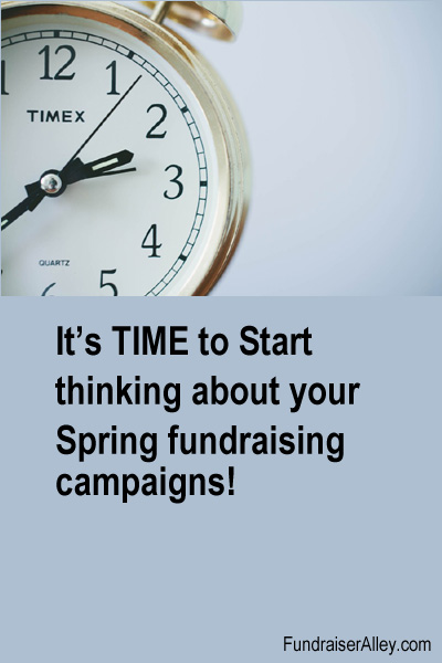It's Time to Start Thinking About Your Spring Fundraising Campaigns