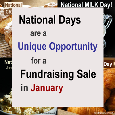 National Days are a Unique Opportunity for a Fundraising Sale in January
