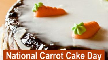 National Carrot Cake Day, Feb 3