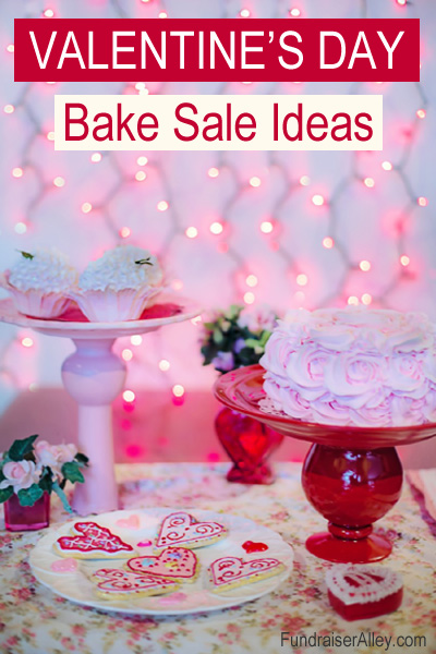 Valentines Day Bake Sale Cakes, Cupcakes, and Cookies
