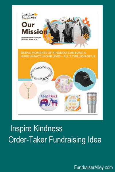 Inspire Kindness Order Taker fundraising Idea
