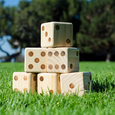Giant Wooden Playing Dice Set