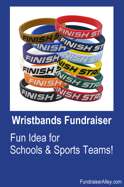 Wristbands Fundraiser - Fun Idea for Schools and Sports Teams!