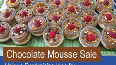 Chocolate Mousse Sale - Unique fundraising idea for National Chocolate Mousse Day, April 3